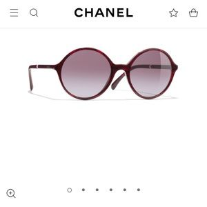 "❤️$425. Chanel ""2019"" Sty Wine Round W/ Pearl NEW!"